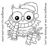 Woodware - Christmas Hoot Owl - Clear Magic Stamp Set - FRS142